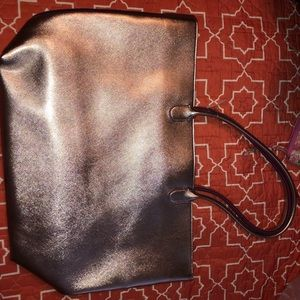 Rose gold purse with small wallet